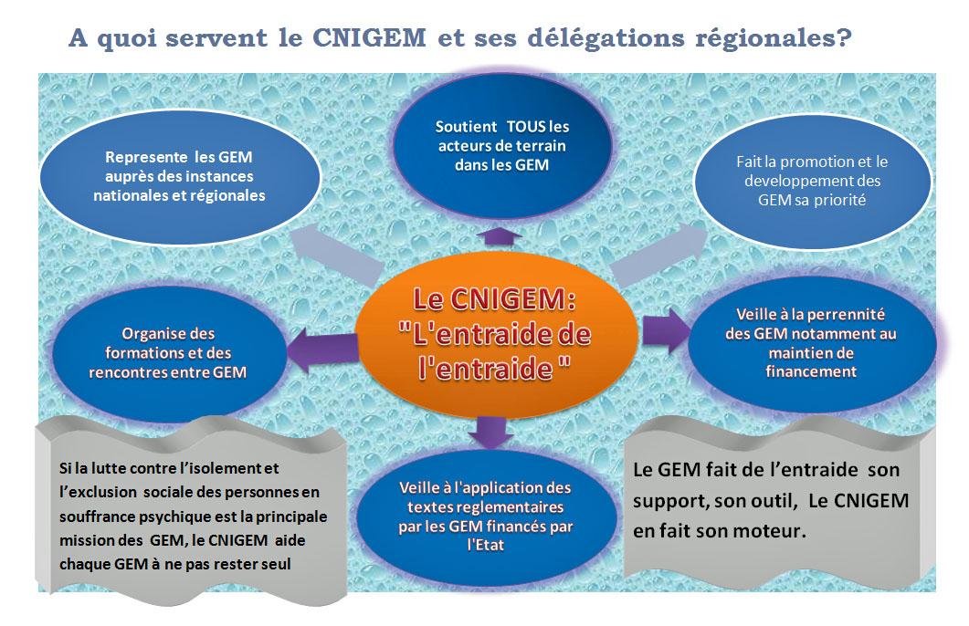 Rôle du CNIGEM & des délégations régionales